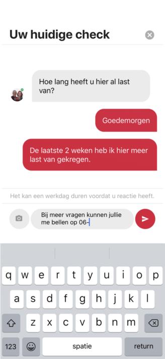 PAQT Mobiele app voor vroegsignalering stomaklachten iphone