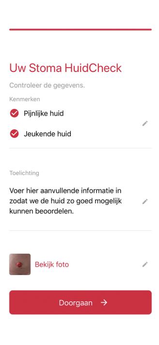 PAQT Mobiele app voor vroegsignalering stomaklachten iphone 2